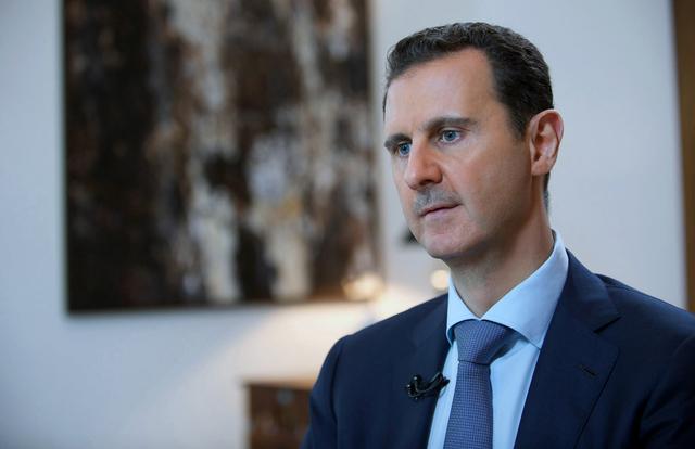 Na snímke Bašár Asad v rozhovore pre Českú televíziu