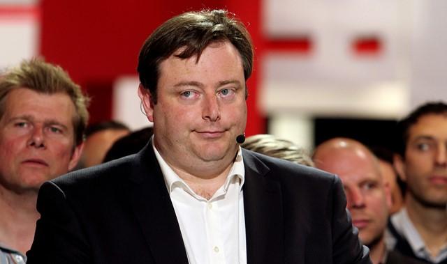 Na snímke predseda Novej flámskej aliancie (NVA) Bart De Waver