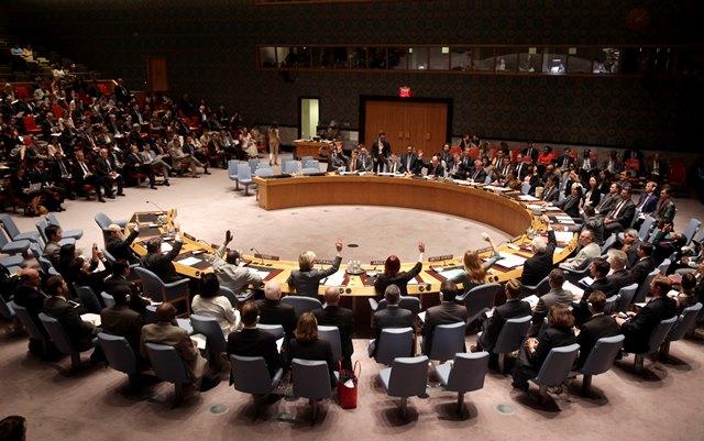 Na snímke zasadanie členov Bezpečnostnej rady OSN
