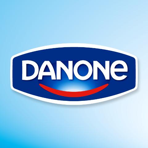 Na snímke logo spoločnosti Danone