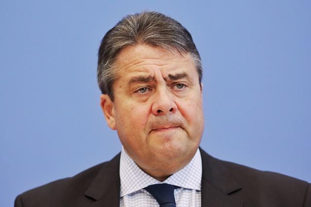 Na snímke predseda  Sociálnodemokratickej strany Nemecka Sigmar Gabriel