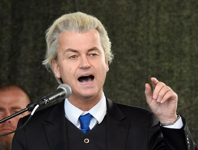 Na snímke líder holandskej pravicovej protiislamskej Strany Slobody Geert Wilders