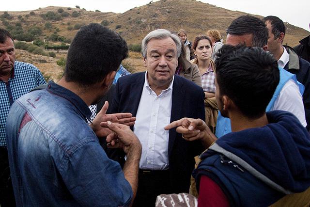 Na snímke vysoký komisár OSN pre utečencov (UNHCR) António Guterres