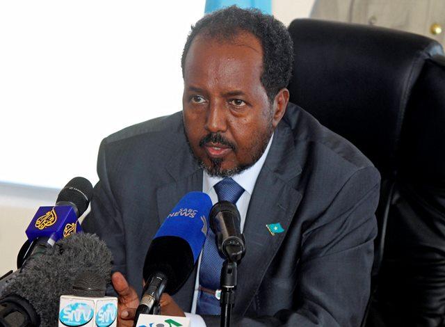 Na snímke somálsky prezident Hasan Šajch Mahamúd