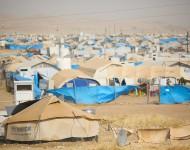 Pohľad na jeden z táborov v Sulimanyii, ktorý spravuje OSN