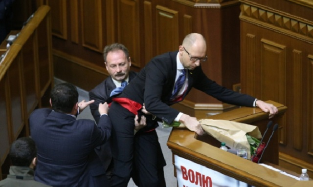 Snímka z rokovania ukrajinského parlamentu