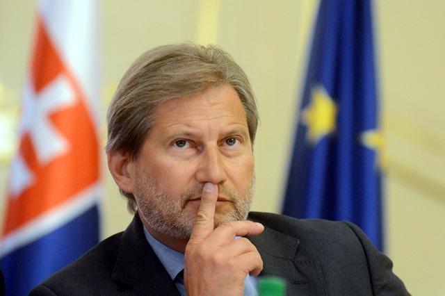Na snímke  eurokomisár pre politiku susedstva a rokovania o rozšírení Johannes Hahn