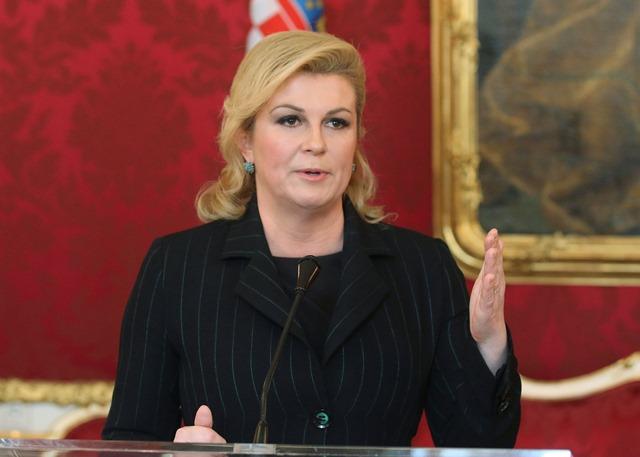 Na snímke chorvátska prezidentka Kolinda Grabarová-Kitarovičová