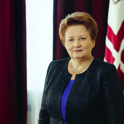 Na snímke lotyšská premiérka Laimdota Straujumov
