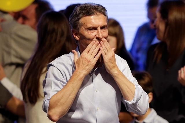 Na snímke novozvolený argentínsky prezident Mauricio Macri