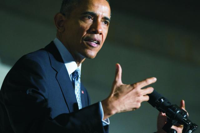 Na archívnej snímke Barack Obama
