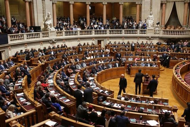 Na snímke poslanci portugalský parlament