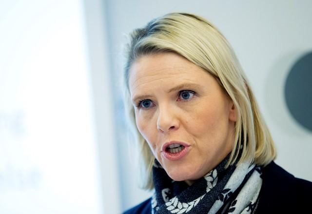 Na snímke nórska ministerka pre prisťahovalectvo Sylvi Listhaugová