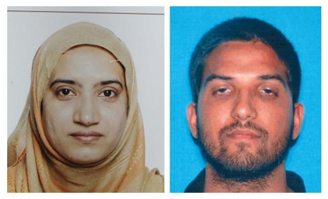 Na kombosnímke FBI a polície sú Pakistanka Tashfeen Maliková a jej manžel Syed Farook
