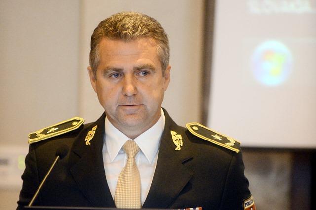 Na snímke prezident Policajného zboru SR gen. Tibor Gašpar