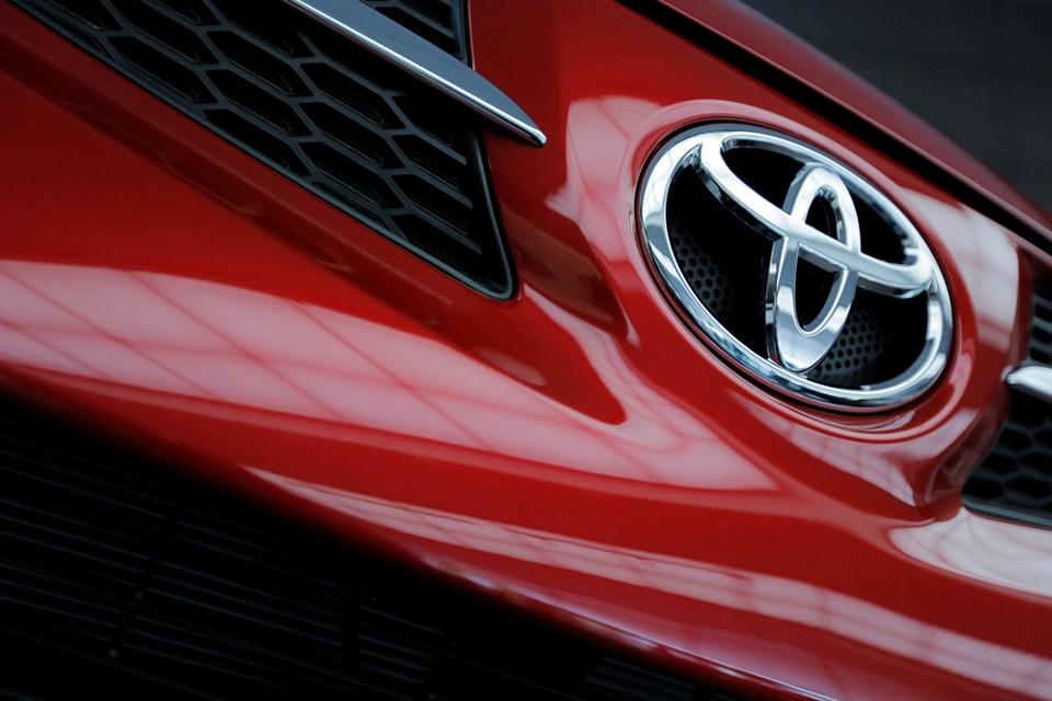 Na snímke logo značky Toyota