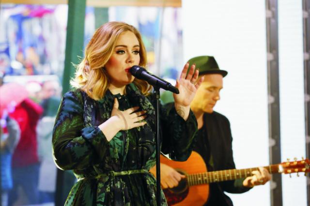 Anglická speváčka Adele