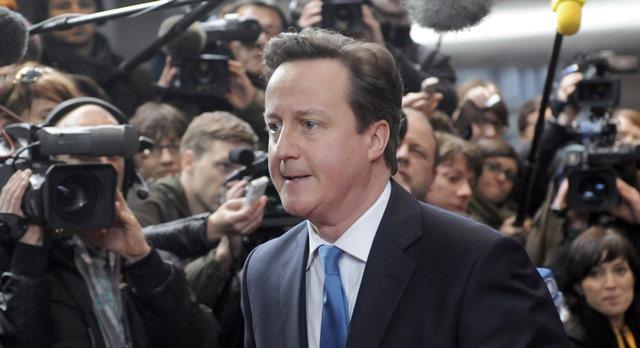 Na snímke David Cameron