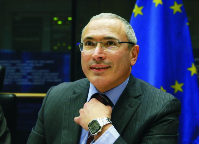Na snímke Michail Chodorkovskij