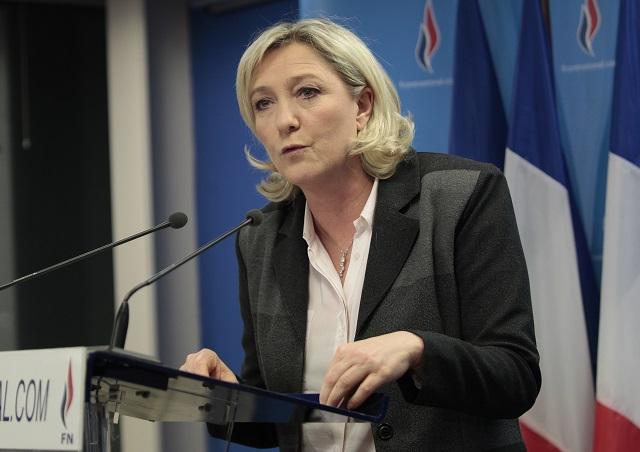 Na snímke Marine Le Penová