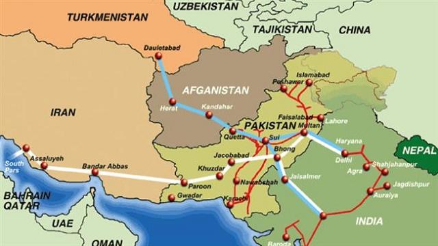 Takto by mali viesť plynovody do Indie z Turkménska, resp. z Iránu. Foto: presstv.ir