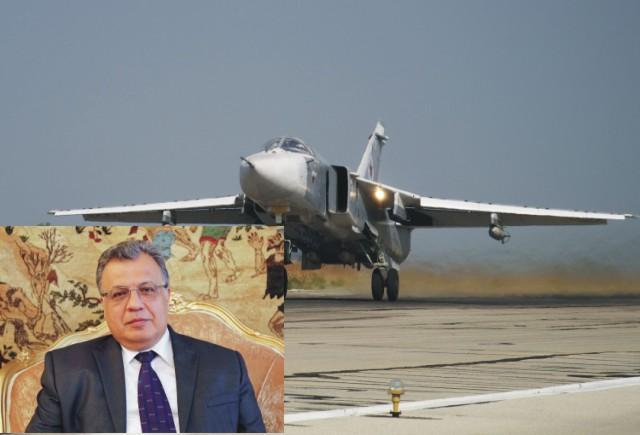 Na snímke vľavo ruský veľvyslanec v Turecku Andrej Karlov