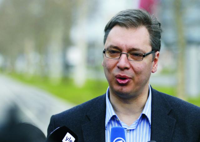Na archícnej snímke Aleksandar Vučič