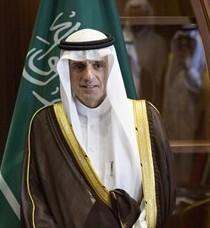 Na snímke saudskoarabský minister zahraničných vecí Ádil Džubajr