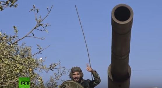 Reportáž a úspešnom ťažení sýrskej armády pripravil redaktor televíznej stanice Russian Today Abu Taleb al-Buheya