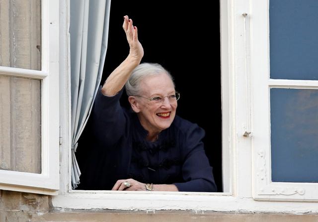 Na snímke dánska kráľovná Margaréta II.