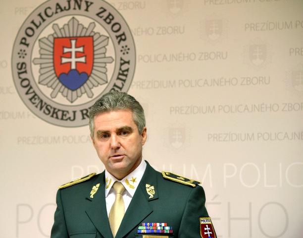 Na snímke prezident Policajného zboru SR Tibor Gašpar