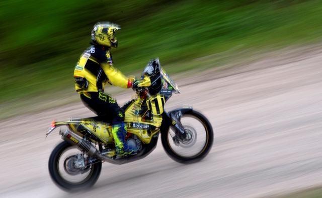 Na snímke Slovák Štefan Svitko na KTM