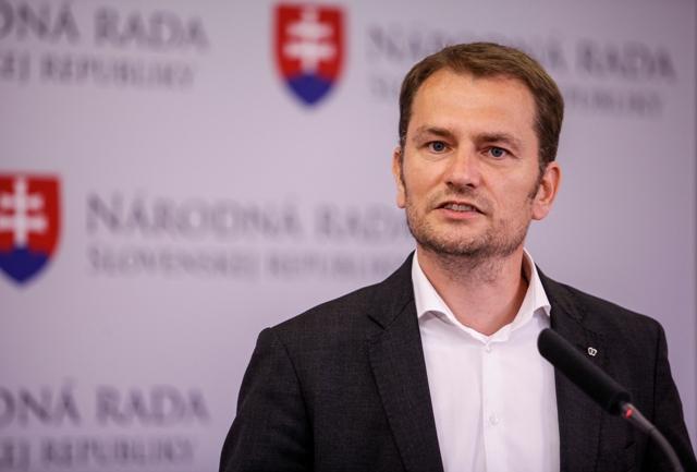 Na snímke líder OĽaNO-NOVA Igor Matovič