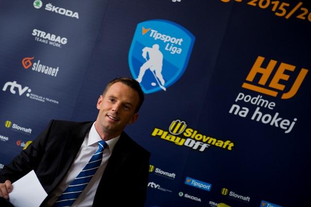 Na snímke Richard Lintner, riaditeľ spoločnosti Pro-Hokej
