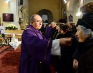 Snímka zo zádušnej omše za zosnulého kňaza, saleziána a charitatívneho pracovníka Antona Srholca v Kostole Nanebovzatia Panny Márie 12. januára 2016 v Bratislave
