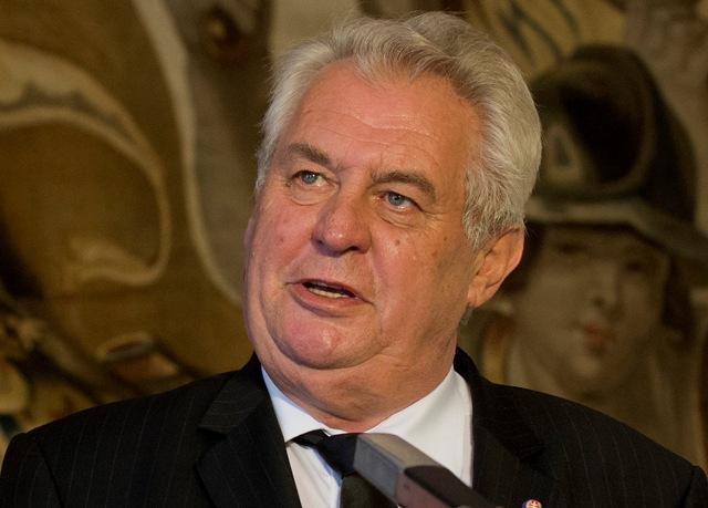 Na snímke český prezident Miloš Zeman