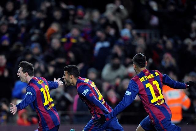 Na ilustračnej snímke futbalisti FC Barcelona