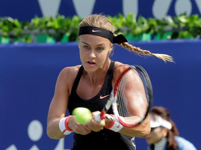 Na snímke slovenská tenistka Anna Karolína Schmiedlová