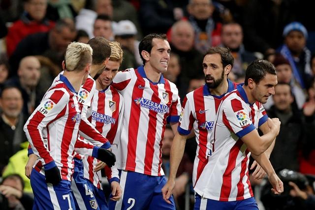 Na ilustračnej snímke futbalisti z Atletica Madrid