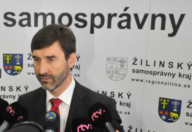 Na snímke predseda ŽSK Juraj Blanár