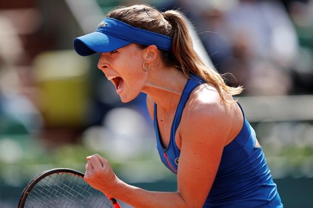Na snímke francúzska tenistka Alize Cornetová
