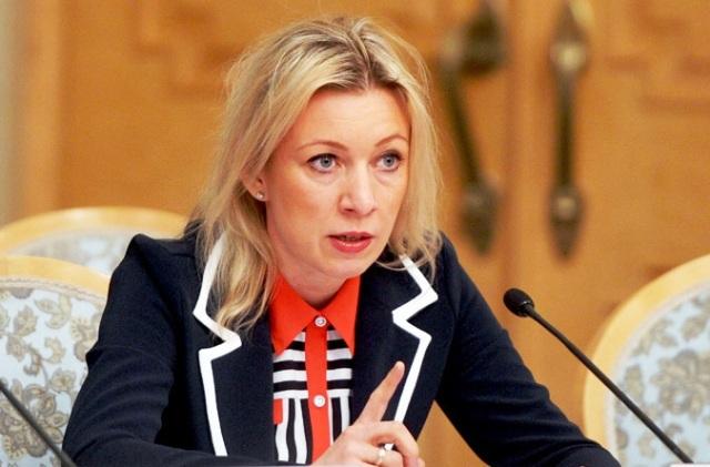 Na snímke hovorkyňa ministerstva zahraničných vecí Ruska Mária Zacharovová