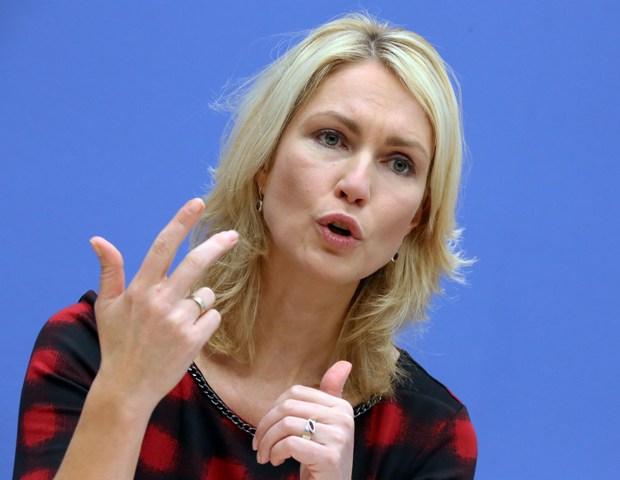 Na snímke nemecká ministerka pre rodinu Manuela Schwesigová