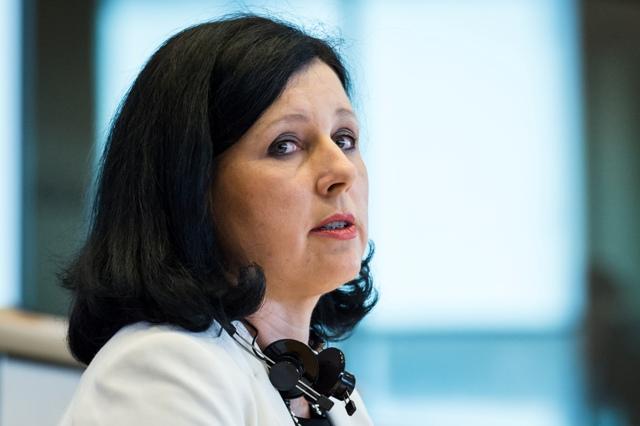 Na snímke eurokomisárka pre spravodlivosť, spotrebiteľov a rodovú rovnosť Věra Jourová