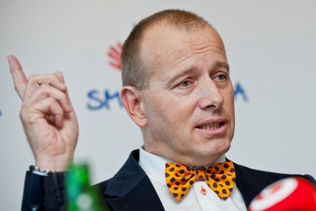 Na snímke líder mimoparlamentného hnutia SME RODINA Boris Kollár