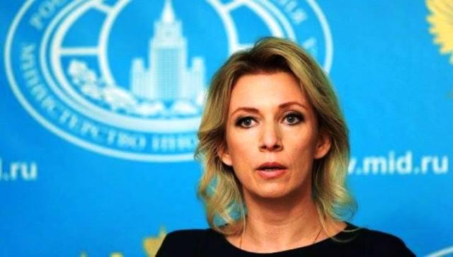 Na snímke hovorkyňa ruského ministerstva zahraničných vecí Mária Zacharovová
