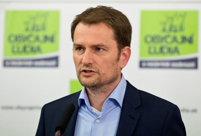 Na snímke Igor Matovič z opozičného hnutia OĽaNO-NOVA