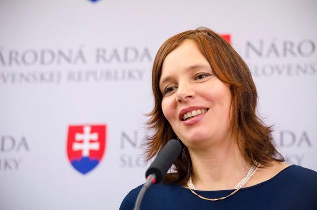 Na snímke líderka kandidátky hnutia OĽaNO-NOVA Veronika Remišová