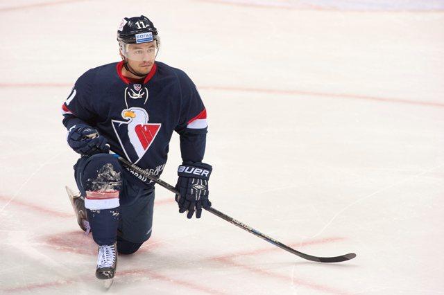 Na snímke kanadský hokejový útočník Francis Paré
