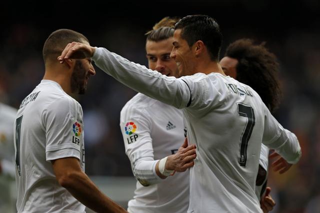 Na snímke futbalisti Realu Madrid